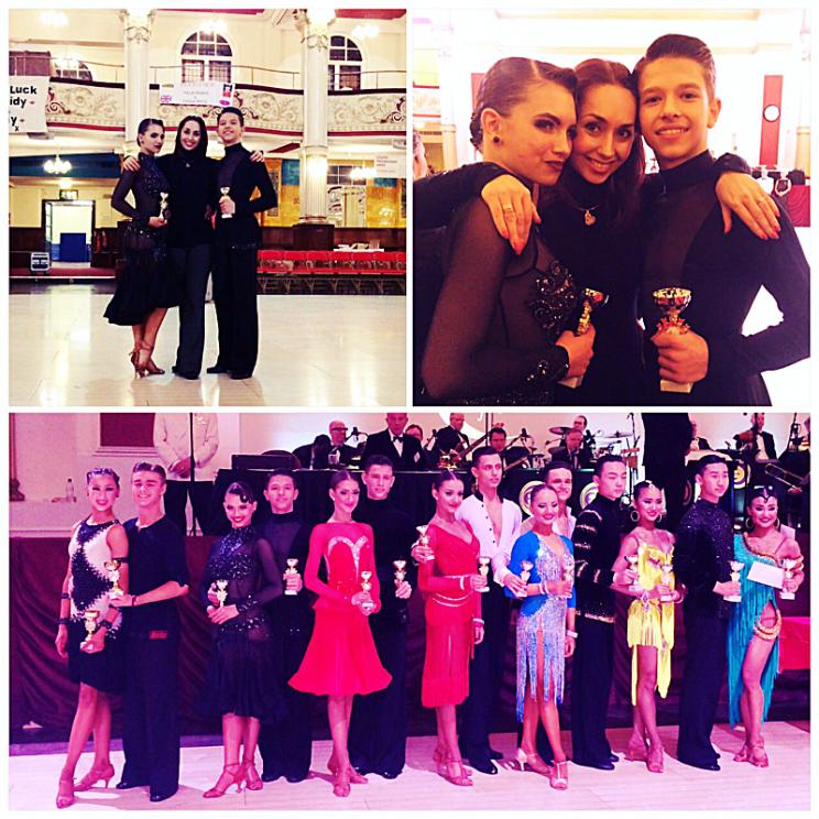 Финалисты 2016 Junior Blackpool Dance Festival (Junior Jive) Алексей Бонковский и Дарья Цыбульская с тренером Наталией Беднягиной
