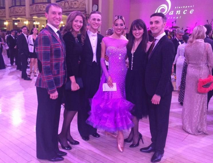 Blackpool Dance Festival 2016 - 6 place Under 21 Ballroom Artem Kuklin & Alika Dikaja (Ukraine) and coach Maxim Bulanyy, Katusha Spasitel and Nataliya Kolyada, Stas Portanenko