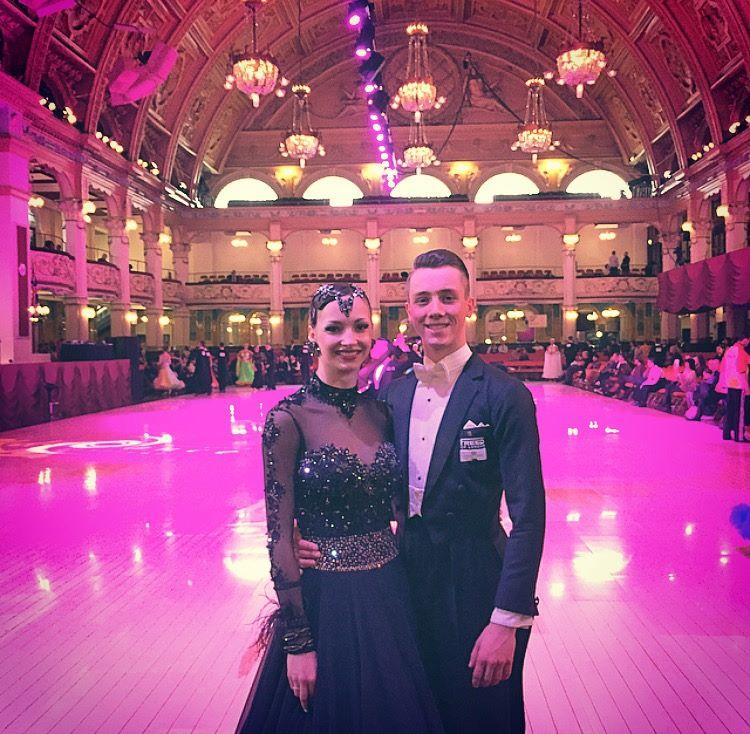 Майкл Фоскетт и Ника Власенко после 1 тура British Open 2015 Amateur Rising Star Ballroom