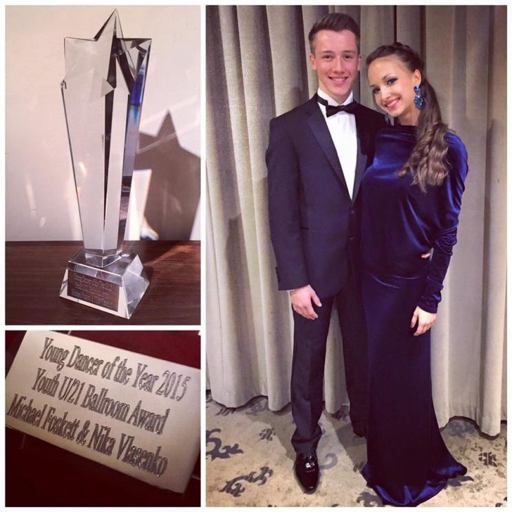 Майкл Фоскетт и Ника Власенко (Michael Foskett & Nika Vlasenko) - Лауреаты премии Young dancer of the Year 2015 в категории Молодежь до 21 г., стандарт