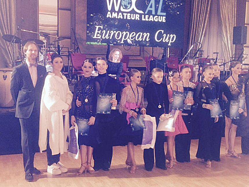 Алексей Бонковский и Дарья Цыбульская WDC AL European Cup 2016 Junior 1 Latin Award