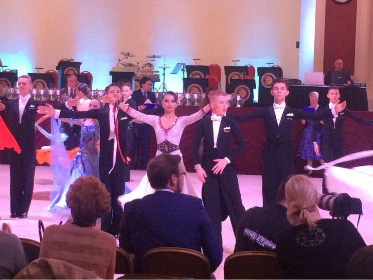 Алексей Бонковский и Дарья Цыбульская на WDC AL European Championship 2016 (Junior II U16)