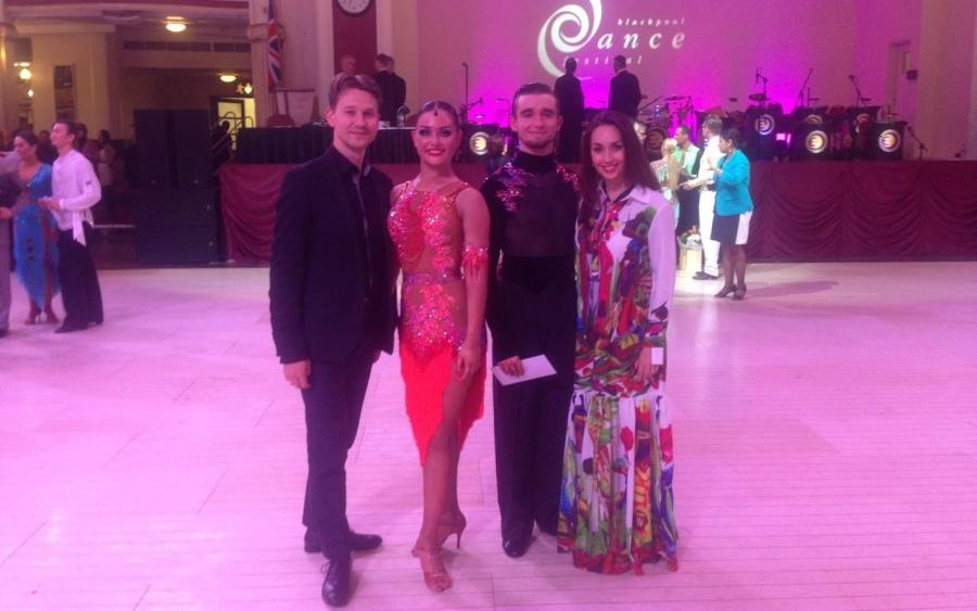 Blackpool Dance Festival 2016 - 4 place Maksim Bodnar & Elyzaveta Vnuchkova (Ukraine) and Roman Myrkin & Natalia Byednyagina