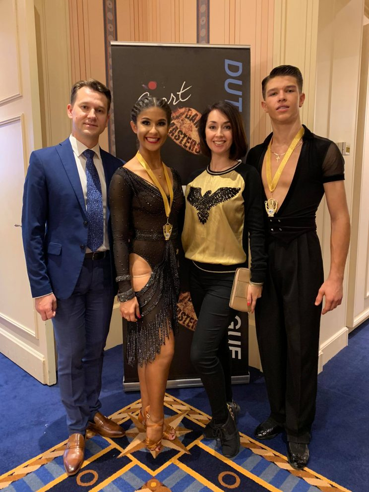 Alex & Kiersten - Winners the Fred Astaire Cup Youth U19 Latin
